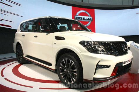 nissan patrol nismo interior nissan patrol nismo front quarter at dims 2015 indian