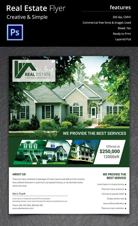free real estate flyer templates free real estate marketing flyers templates
