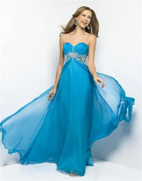multi colored prom dress blue color prom dress
