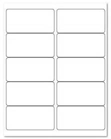 10 Labels Per Sheet Template by 4 Quot X 2 Quot Laser Inkjet Label Sheets 10 Stickers Per Sheet