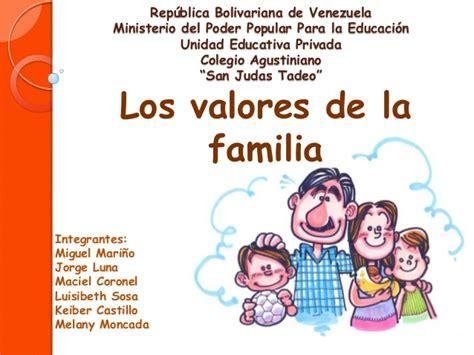 imagenes que representen valores familiares los valores de la familia