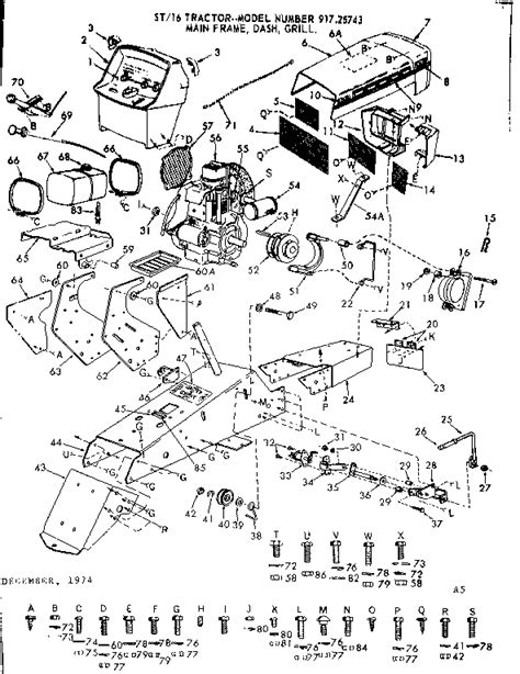 craftsman lt2000 parts diagram craftsman tractor parts model 91725743 sears partsdirect