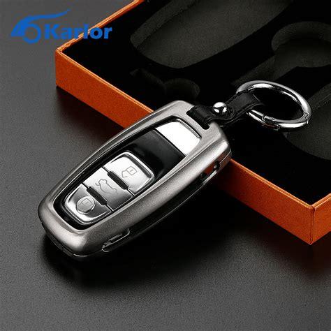 resetting key fob audi aluminum remote car key cover case car keychain key holder