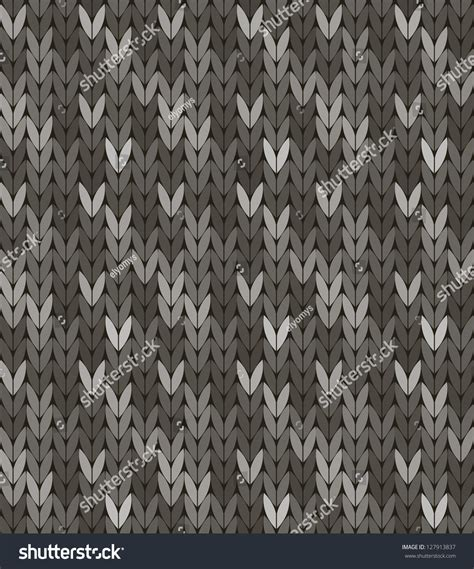pattern colorway seamless knit pattern in grey colorway stock vector