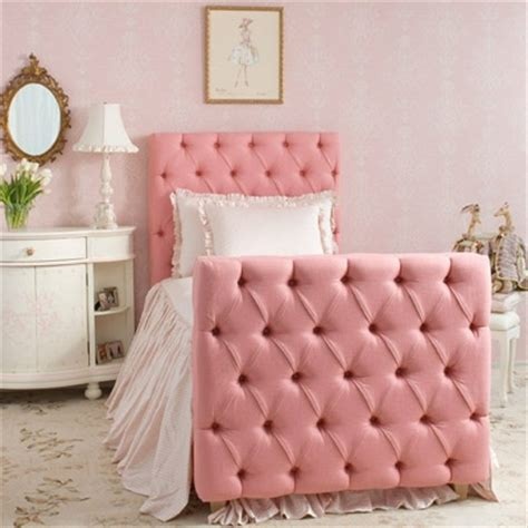 girls tufted headboard upholstered bed adds sweet drama to kid s rooms kidspace