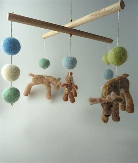 Deer Crib Mobile by Baby Mobile Deer Decor Eco Friendly 100 Wool Deer By