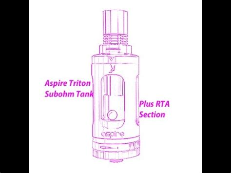 section 3 rta aspire triton subohm tank rta section review youtube
