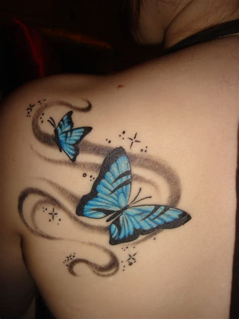 small butterfly tattoos on back butterfly back tattoos