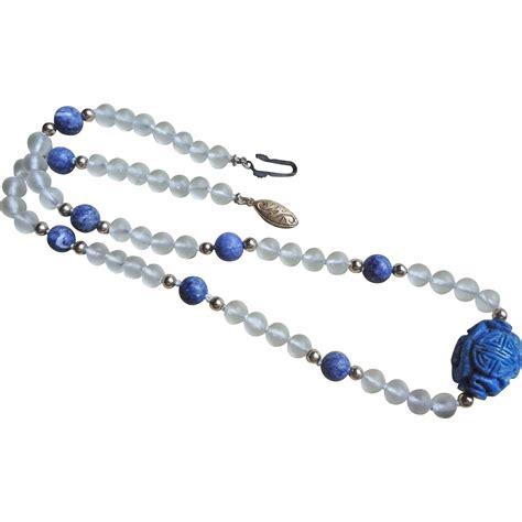 rockx silver tide 1 tx vintage rock lapis shou necklace gold