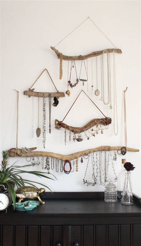 Art On Walls Home Decorating driftwood jewelry organizer wall art display wood on