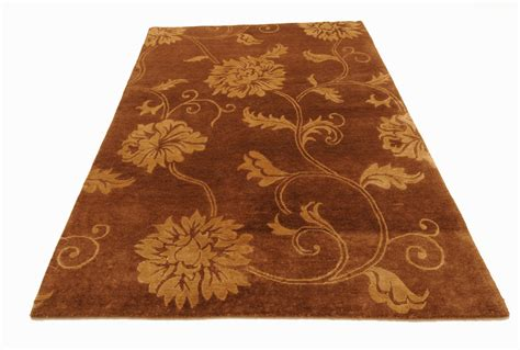 Rugs Nepal Brown 5 X 7 Indo Nepal Rug Hand Knotted Oriental Rug Ebay
