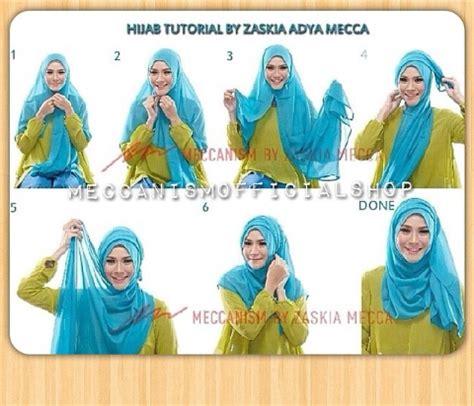 tutorial berhijab zaskia new tutorial hijab terbaru zaskia adya mecca