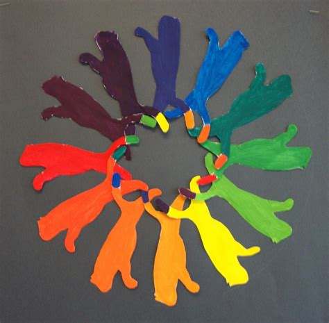 creative color wheel art paper scissors glue creative color wheel