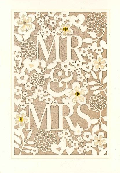 Wedding Congratulations Hallmark by Laser Cut Floral Greeting Cards Hallmark