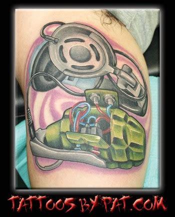 new school grenade tattoo lucky 7 tattoo studio tattoos pat patterson grenade