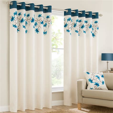 teal eyelet lined curtains mirabel lily teal lined ready made eyelet ring top floral