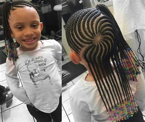 9 year old little girl hair braided witb weave cornrowed half up half down kiddie styles pinterest