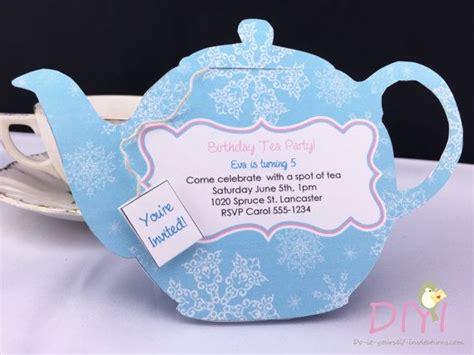 Printable Tea Party Invitation Disney Frozen Invitations Teapot Invitation Template Printable
