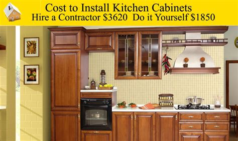 how to install kitchen cabinets yourself cost to install kitchen cabinets