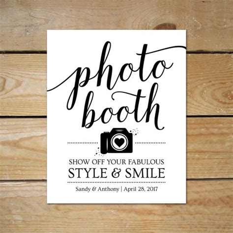 printable photo booth signs for wedding editable photobooth