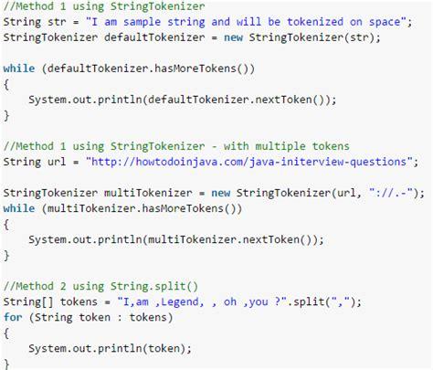 java pattern split exle java split string exles java tokenize string