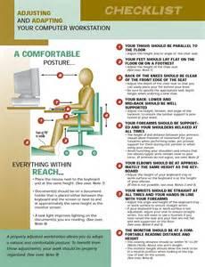 Office Chair Ergonomic Checklist Workstation Checklist Chairlines