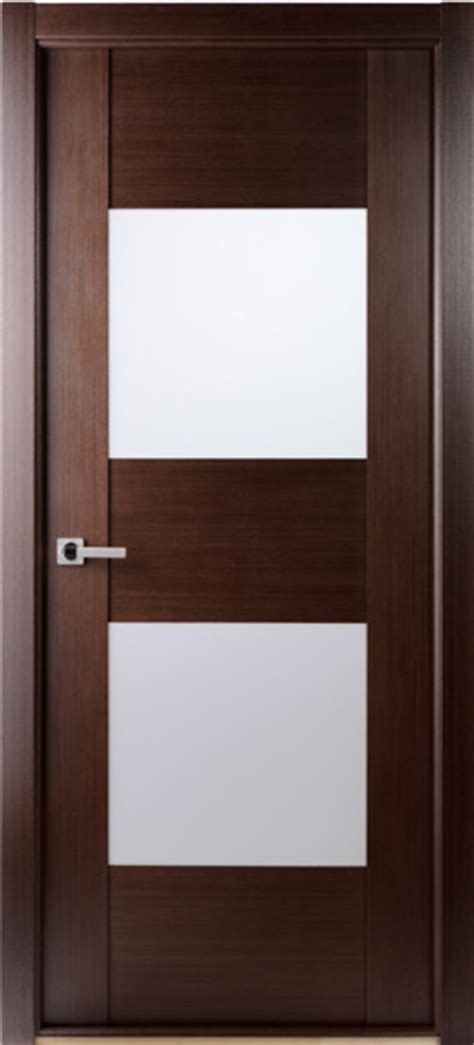 Contemporary African Wenge Interior Single Door With Interior Wood Doors With Frosted Glass