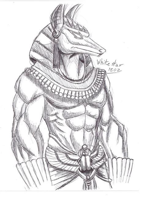 doodle warrior anubis sketch by sketches on deviantart
