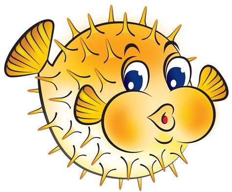 clipart fish best puffer fish clip 24200 clipartion