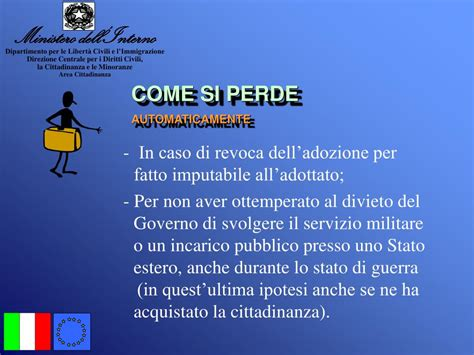 cittadinanza ministro dell interno ppt la cittadinanza italiana powerpoint presentation