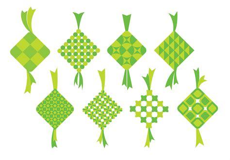 ketupat icons   vectors clipart graphics