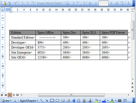 set table column width how to set word table column width