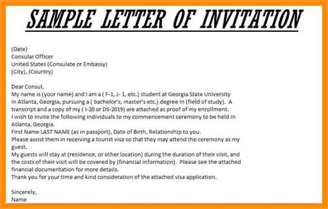 invitation letter sle for visa to us 7 invitation letter pandora squared