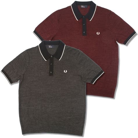 Fred Perry Gift Card - fred perry mod 60 s laurel wreath budding yarn tipped knit s s polo shirt adaptor