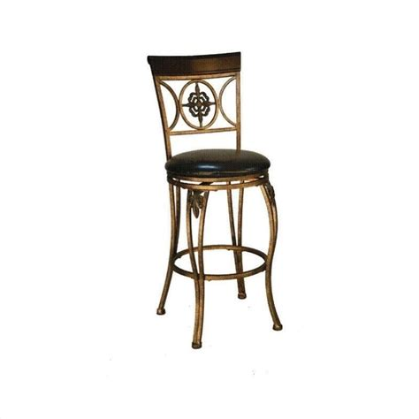 linon fleur de lis 24 quot counter dark antique gold bar stool ebay