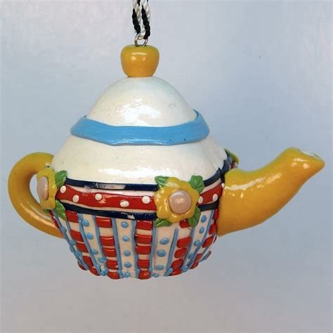 mary engelbreit teapot ornament large
