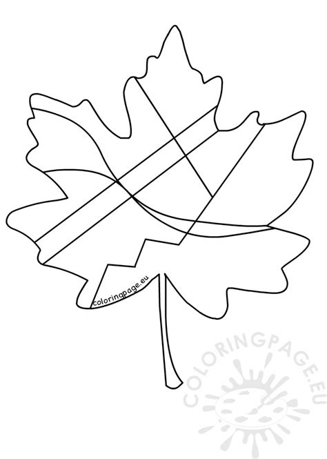 abstract leaf coloring pages maple leaf with abstract drawing coloring page