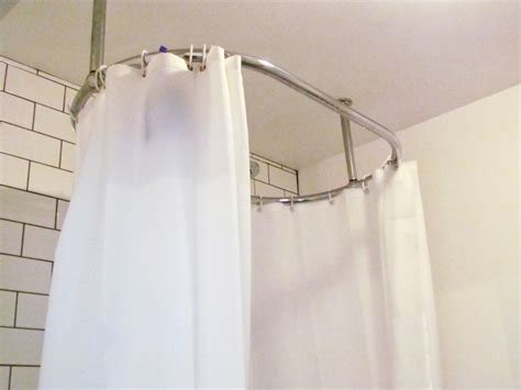 Hanging Shower Curtain by Hanging Shower Curtain Rod From Ceiling Home Design