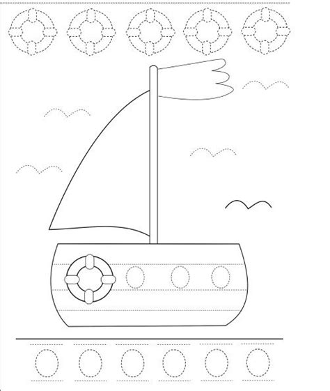 boat pictures for kindergarten trace boat worksheet crafts and worksheets for preschool