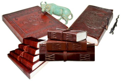 Handmade Paper Delhi - handmade paper leather cover journals handmade paper