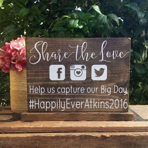 25  Best Ideas about Wedding Hashtag Sign on Pinterest