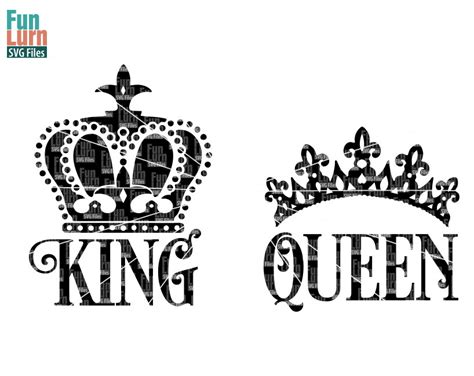 king crown design in hair cut king svg queen svg king crown queen crown svg design svg