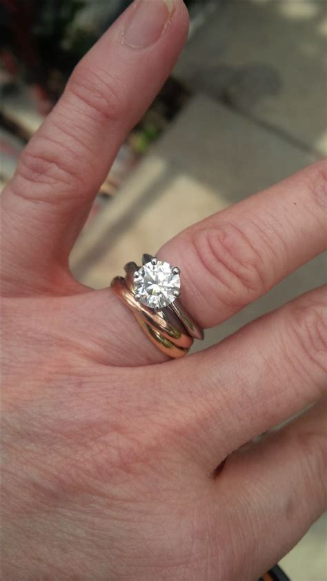 cartier trinity rolling ring as a wedding band engagement ring pinterest band rolling