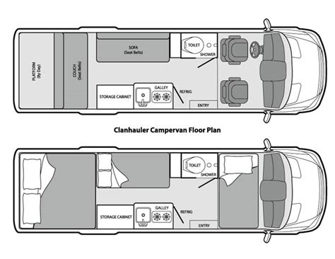 mercedes sprinter floor plan floor plans for cer van on mercedes sprinter 2014