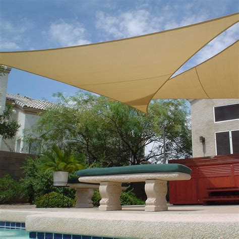 Shade Sail Triangle 11'10   Garage Top Dreams   Pinterest