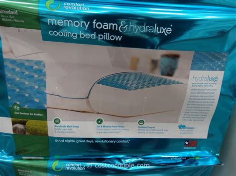 comfort revolution memory foam and hydraluxe cooling bed pillow comfort revolution hydraluxe bed pillow