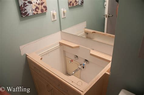 how to install bathroom countertop waffling installing a new bathroom countertop