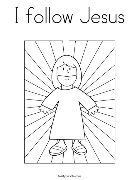 coloring pages jesus follow me i follow jesus coloring page twisty noodle