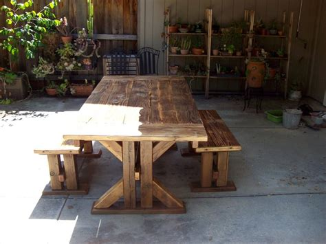 reclaimed outdoor furniture dining tables contemporary patio san francisco by