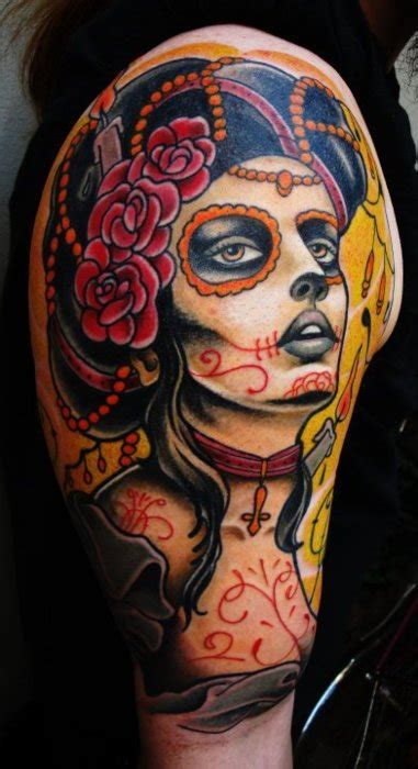 dia de los muertos tattoos tattoo design and ideas